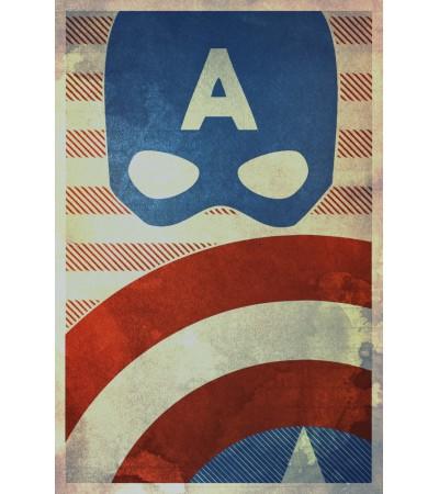 Cpt. America Minimal Poster