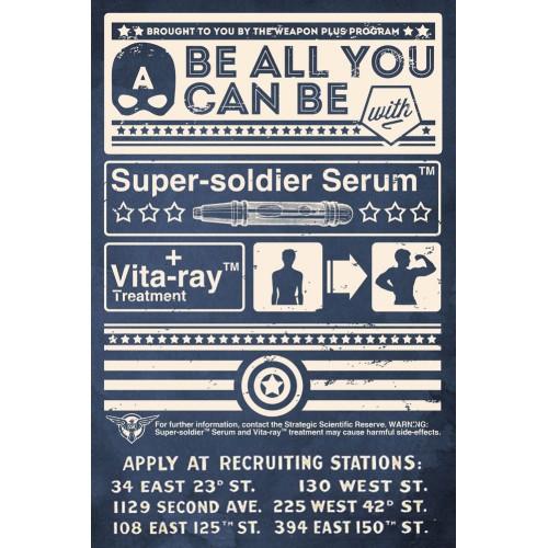 Super Soldier Serum Poster