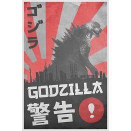 Godzilla Warning Poster