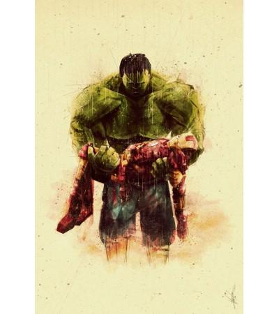 Hulk Iron Man Poster