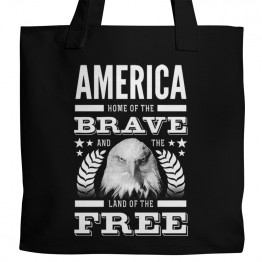 America Brave and Free Tote
