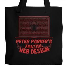 Spiderman Web Design Tote