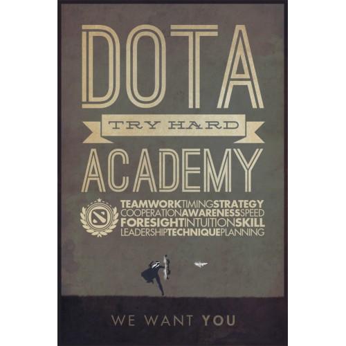 Dota Try Hard Poster