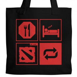 Eat Sleep Dota Tote