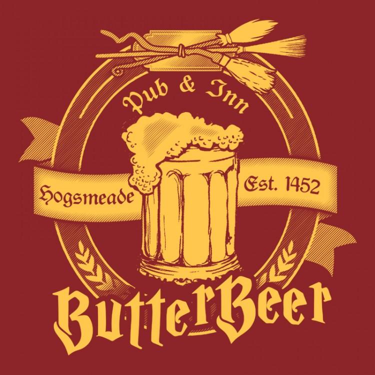 Harry Potter Butterbeer Logo Three Broomstic...