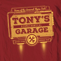 Iron Man Tony's Garage