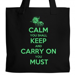 Yoda Keep Calm Tote