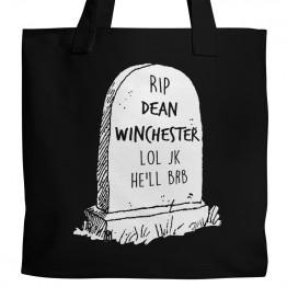 RIP Dean Winchester Tote