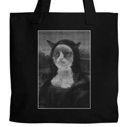 Grumpy Cat Mona Lisa Tote