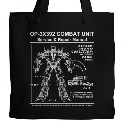 Optimus Prime Manual Tote