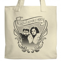 GoT Crows Before Hoes Tote