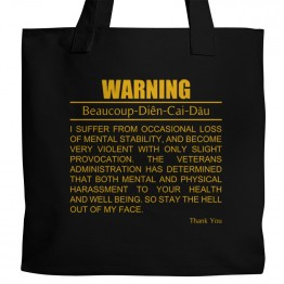 True Blood WARNING Tote